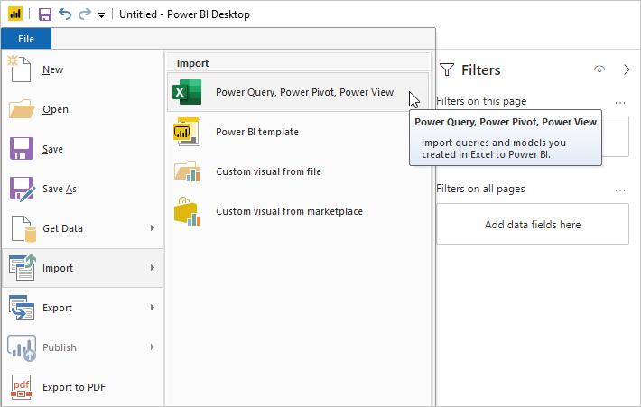 Importación de libros de Excel en Power BI Desktop - Power