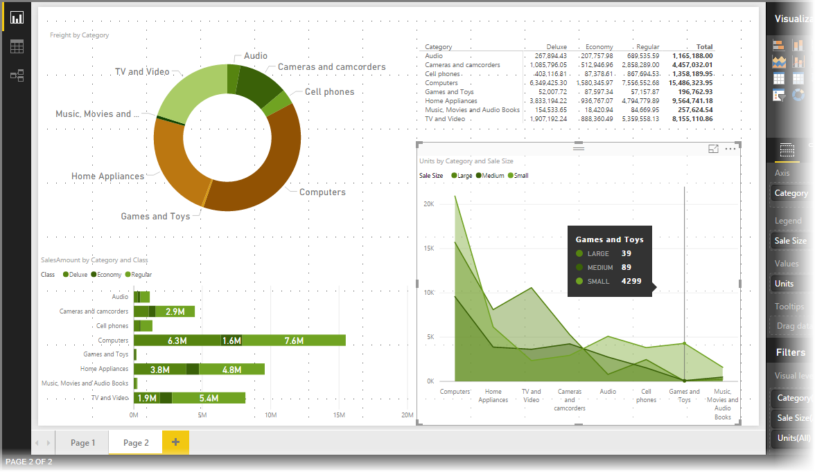 Uso de los temas para los informes en Power BI Desktop - Power BI ...