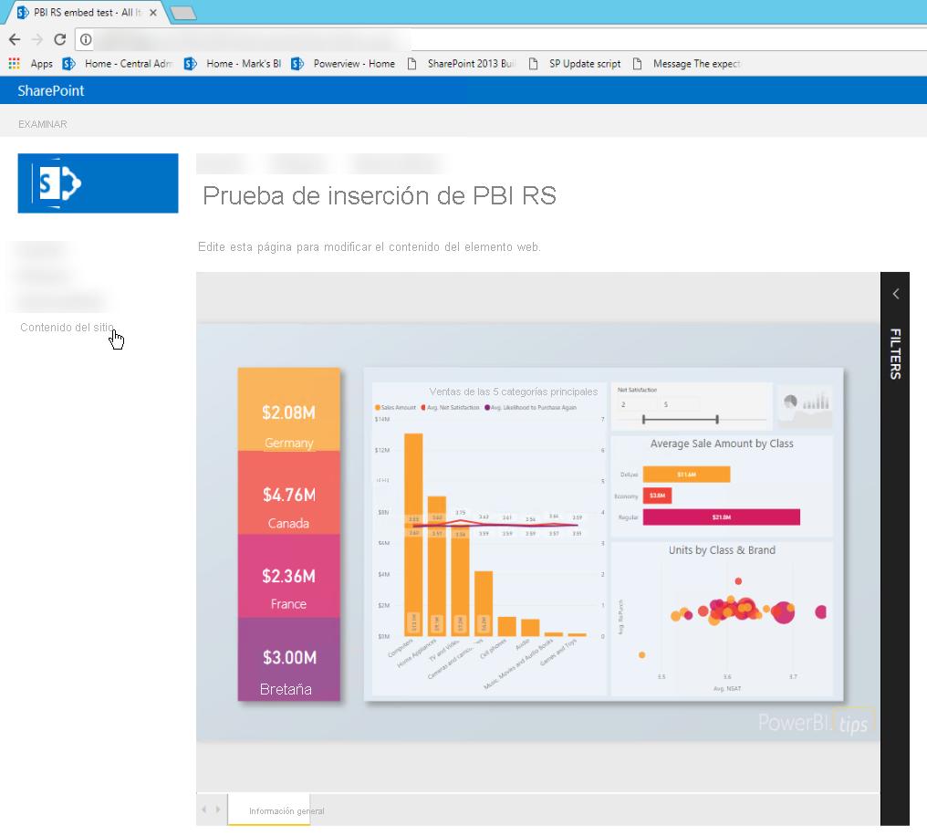 Insertar un informe mediante un elemento iFrame - Power BI ...