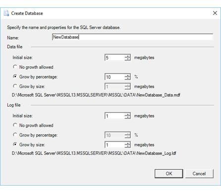 Crear base de datos (Asistente para importación y ...