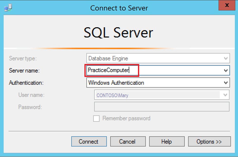 Lección 1: Conexión al motor de base de datos | Microsoft Docs