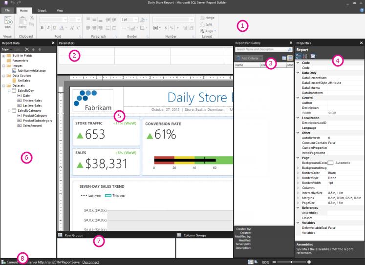 Vista De Diseño De Informe Generador De Informes Sql Server