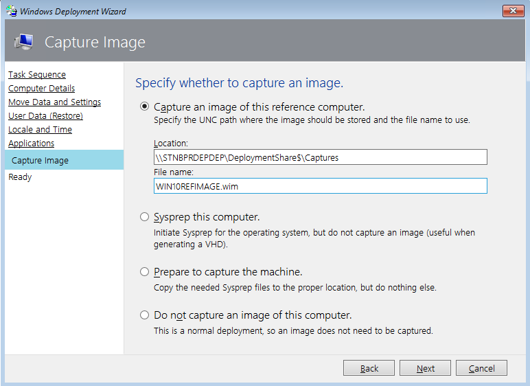 Deploy windows 10 to surface devices with microsoft deployment capture an image of the reference machine ccuart Choice Image