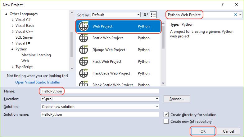 Inicio rápido: usar Visual Studio para crear una aplicación web de ...
