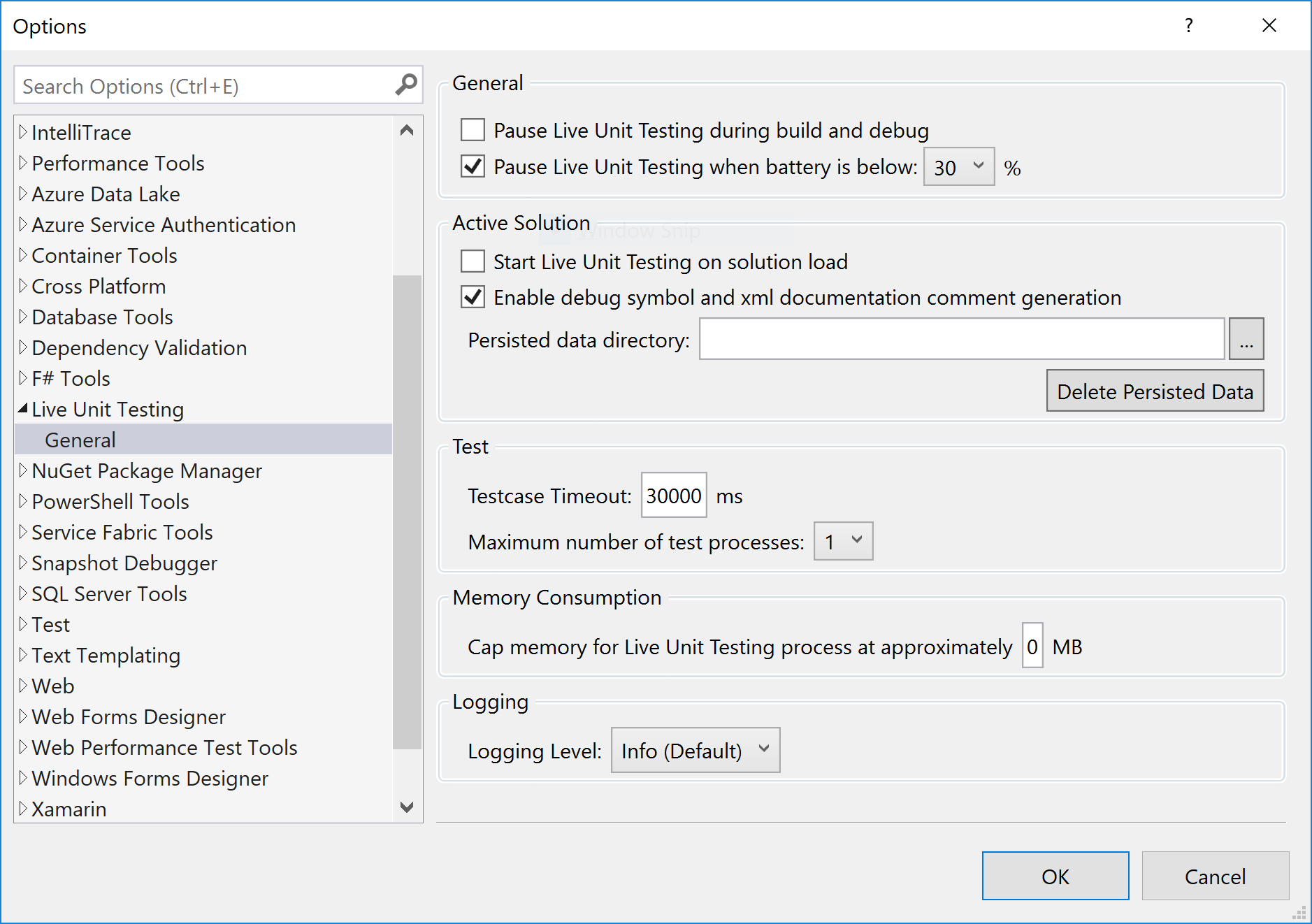 Live Unit Testing en Visual Studio - Visual Studio | Microsoft Docs
