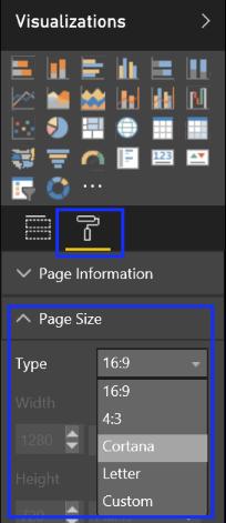 Cortana en el trabajo mostrando las opciones de visualización