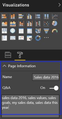 Cortana en el trabajo mostrando la información de la página de tu informe específico