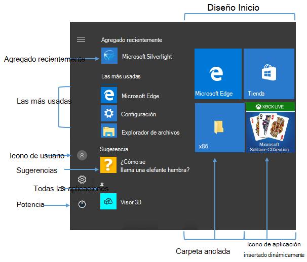 bbb1cff0e7d Administrar el diseño del Inicio de Windows 10 y la barra de tareas ...