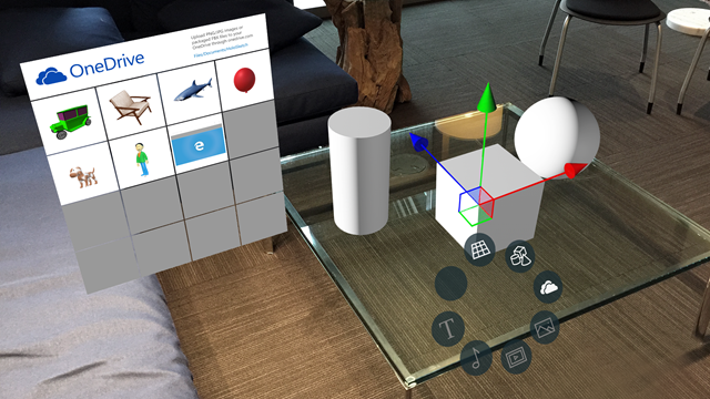 HoloSketch: A spatial layout and UX sketching app for HoloLens.