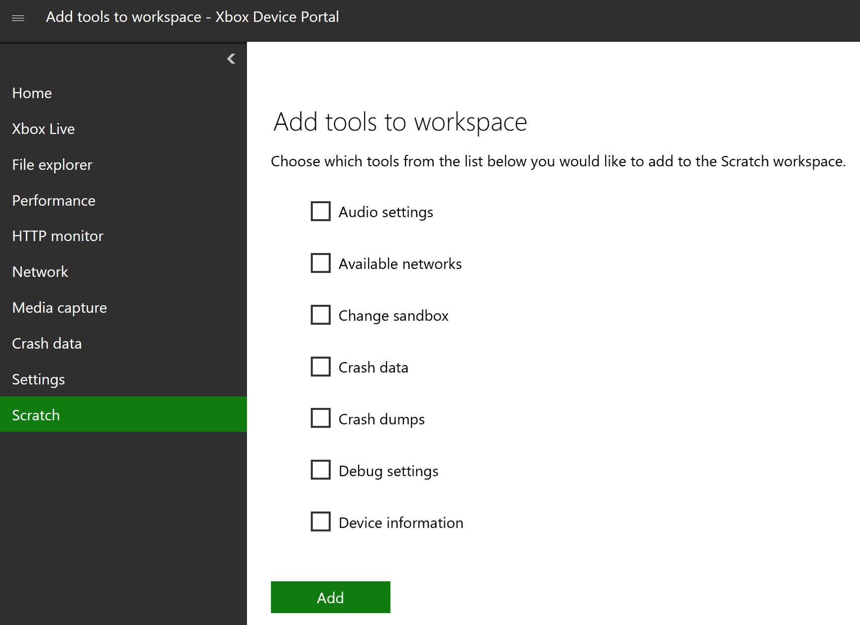 Device Portal para Xbox - UWP app developer   Microsoft Docs