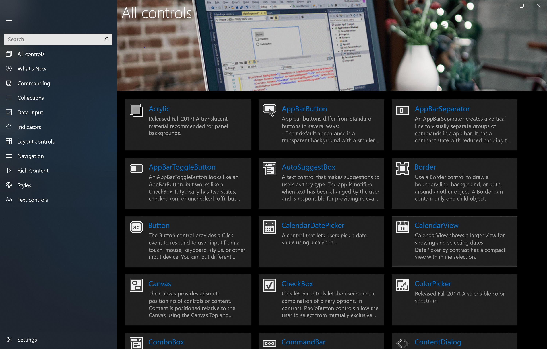 Kits de herramientas de diseño y muestras para aplicaciones para UWP ...