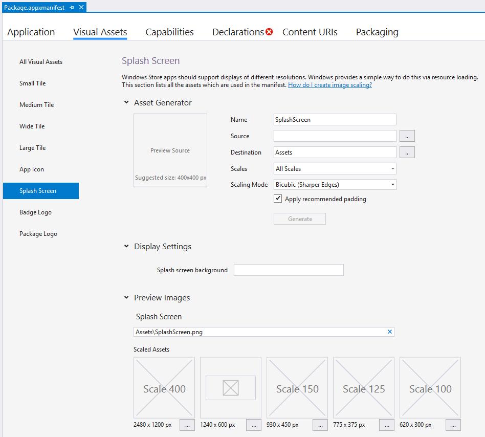 Agregar una pantalla de presentación - UWP app developer | Microsoft ...