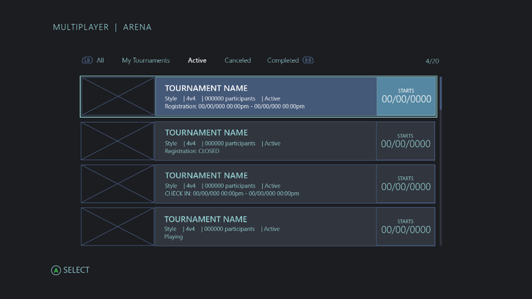 Discovering Xbox tournaments - UWP app developer | Microsoft Docs