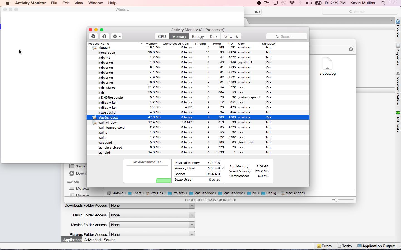 Espacio aislado de una aplicación de Xamarin.Mac - Xamarin ...