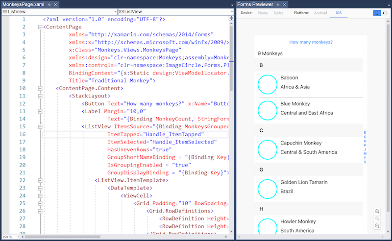 Controlador de vista previa XAML para Xamarin.Forms - Xamarin ...