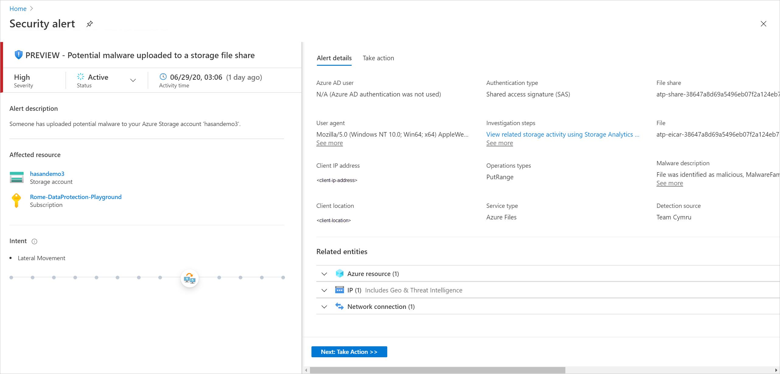 Monitoring Threats In Azure Storage Microsoft Docs