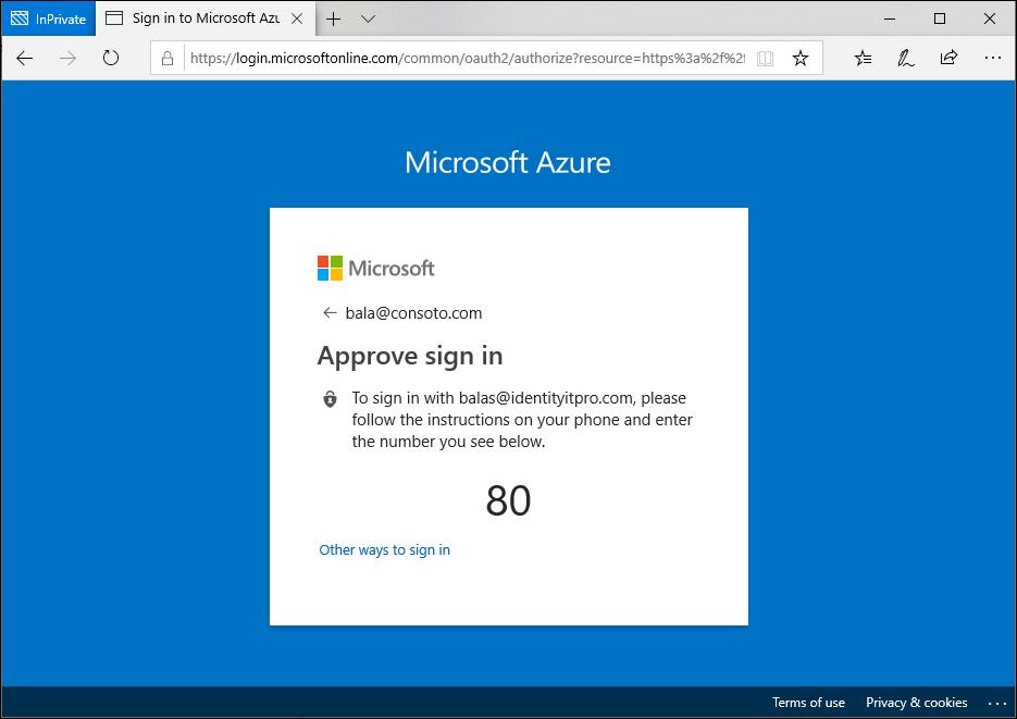 Inicio de sesión en Microsoft Edge con la aplicación Microsoft Authenticator