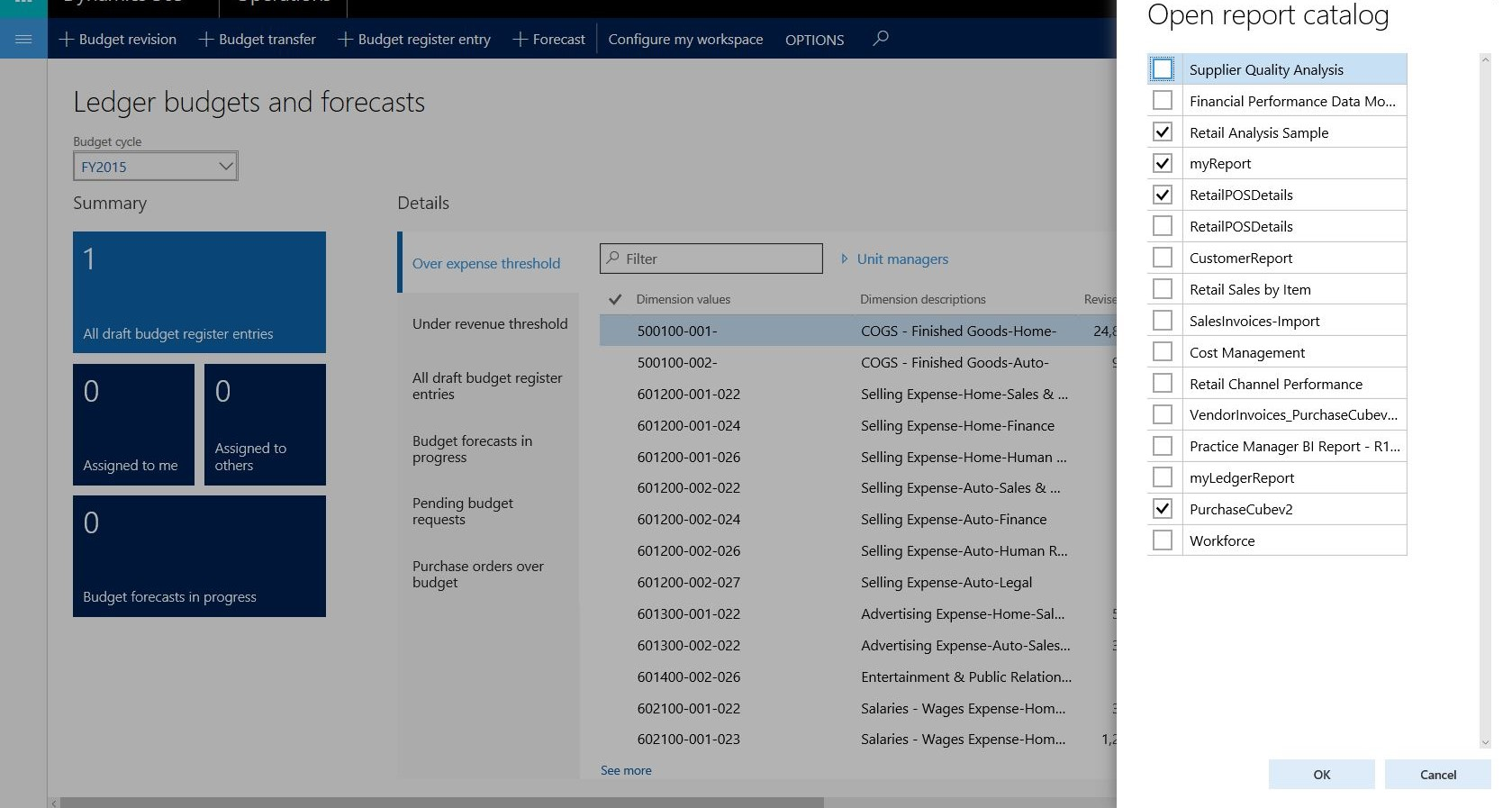 Pin Power BI reports to workspaces - Finance & Operations   Dynamics ...