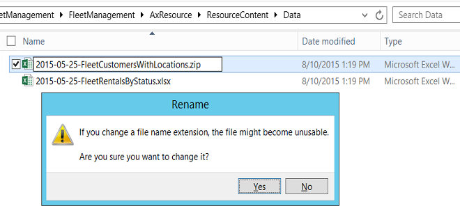 Create open in excel experiences finance operations dynamics change the file extension on the template from xlsx to zip off101m urtaz Images