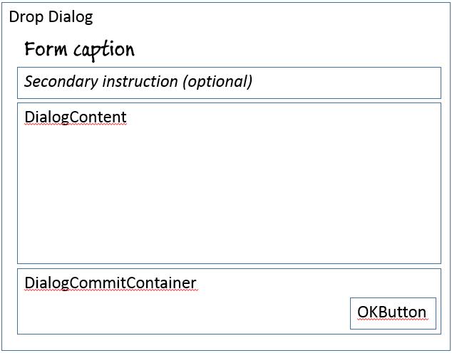Drop Dialog form pattern - Finance & Operations | Dynamics 365 ...
