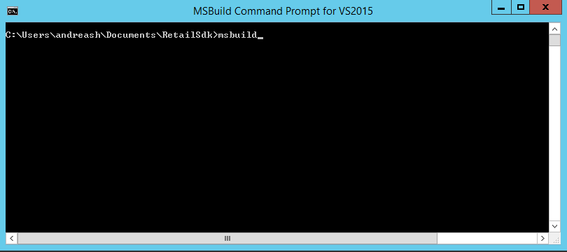 Screenshot of MSBuild command prompt