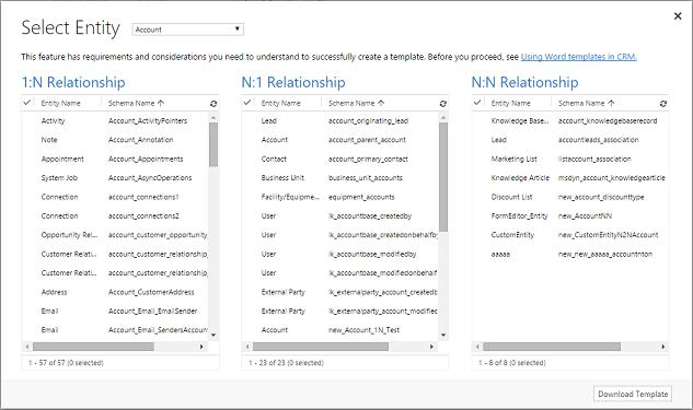 Word-mallien käyttäminen Dynamics 365 for Customer Engagement -sovelluksissa | Microsoft Docs