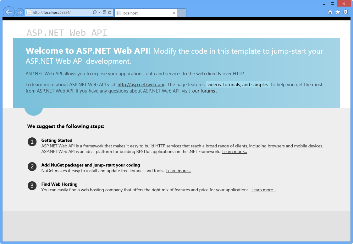Asp net rest web service tutorial.