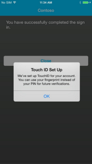 Vérification de la configuration de Touch ID
