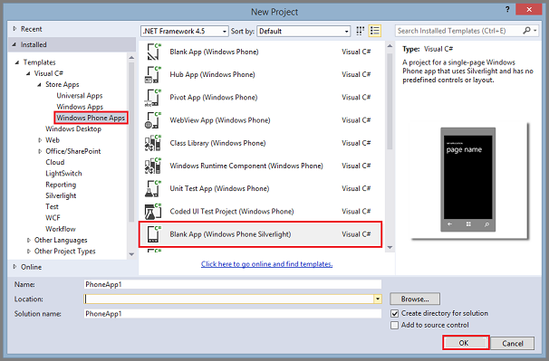 how to create windows mobile application in visual studio 2010