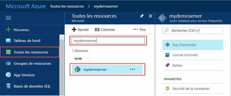 Démarrage rapide : créer un serveur Azure Database pour