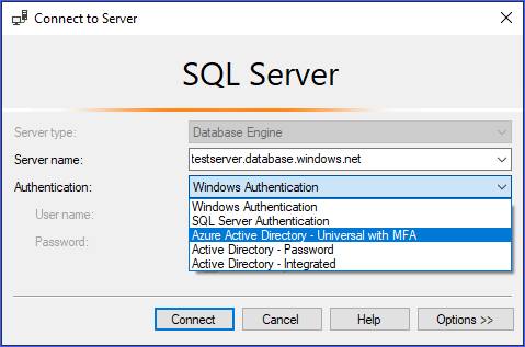 Multi Factor Authentication Azure Sql Microsoft Docs
