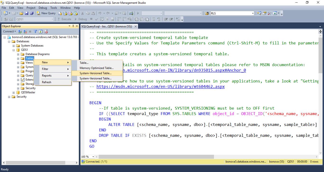Prise En Main Des Tables Temporelles Dans Azure Sql Database Microsoft Docs