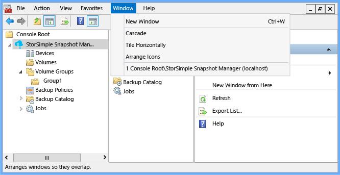 Interface utilisateur du gestionnaire d instantan s for Gestionnaire de fenetre