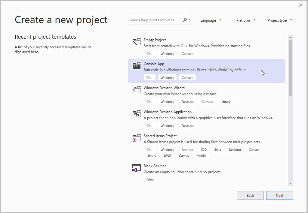 Creer Un Projet D Application Console C Microsoft Docs