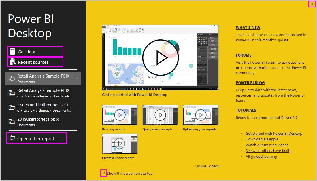 prise en main de power bi desktop power bi microsoft docs