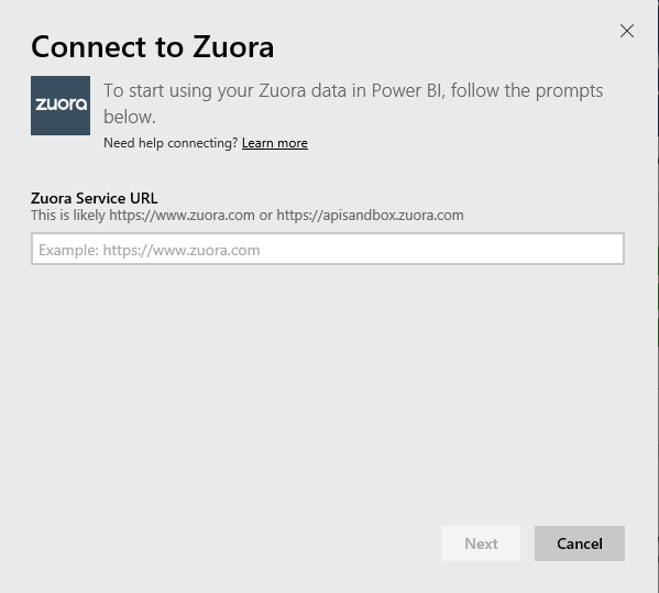 Se Connecter A Zuora Avec Power Bi Power Bi Microsoft Docs