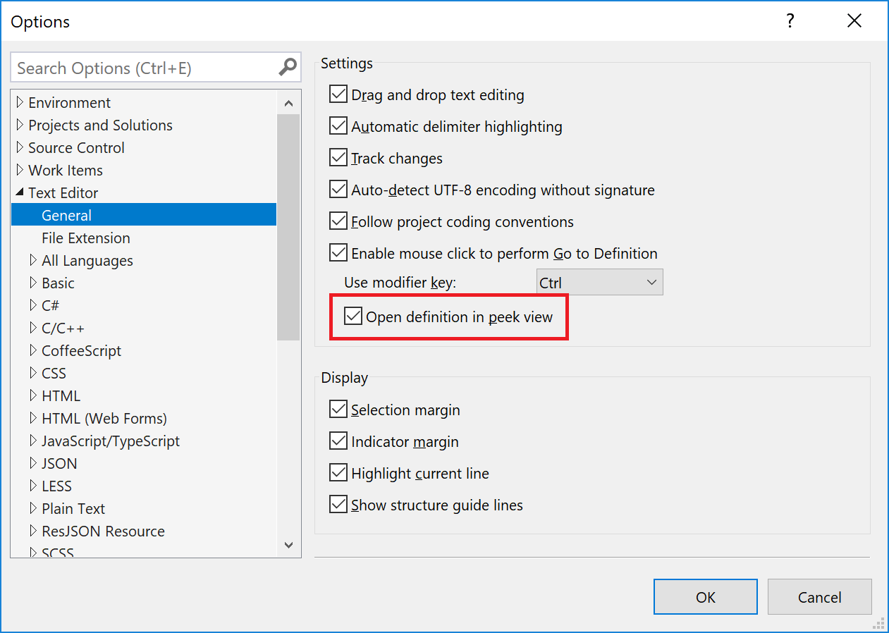 Affichage Des Définitions De Type Visual Studio Microsoft Docs