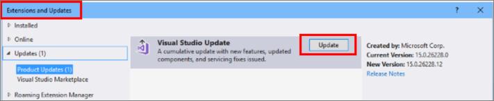 Mettre A Jour Visual Studio 2017 Microsoft Docs