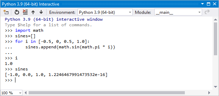Fenetre Interactive Python Repl Visual Studio Microsoft Docs