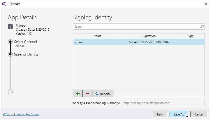 Signature du paquet d'application Android - Xamarin