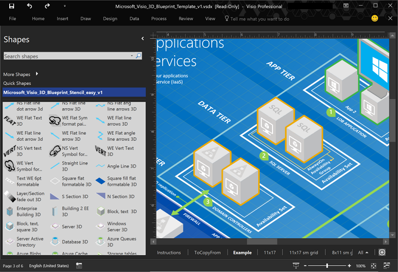 Icons and other assets for architectual diagrams microsoft docs microsoft 3d blueprint visio template malvernweather Images