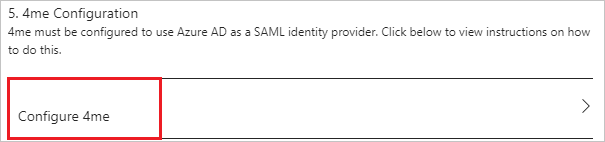 Tutorial: Azure Active Directory integration with 4me | Microsoft Docs