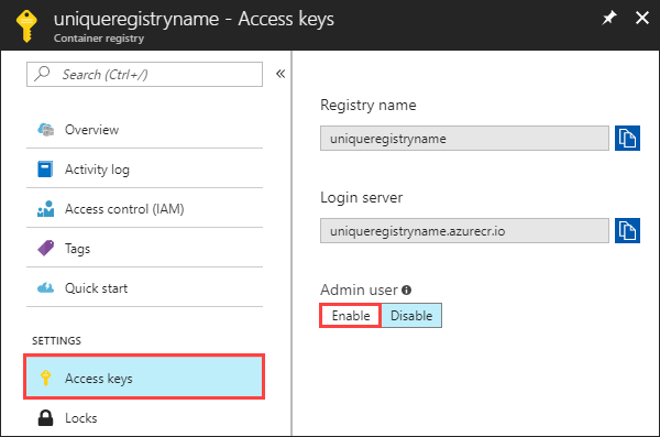 Enable Admin User Ui In The Azure Portal