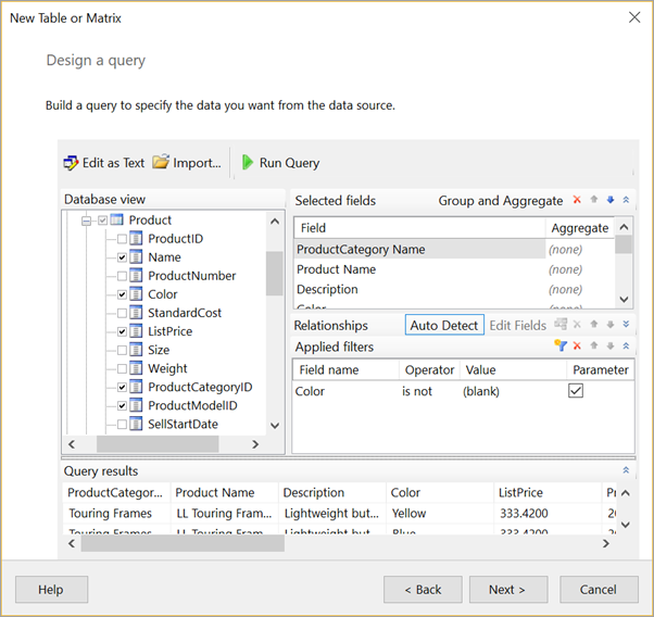 Create an embedded dataset for a Power BI paginated report (Preview