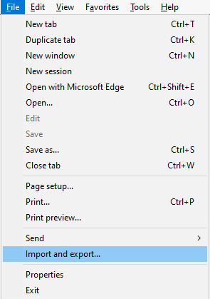 Transfer Firefox Bookmarks To Internet Explorer Browsers Microsoft Docs