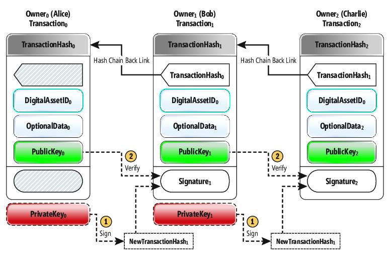 struttura della transazione bitcoin