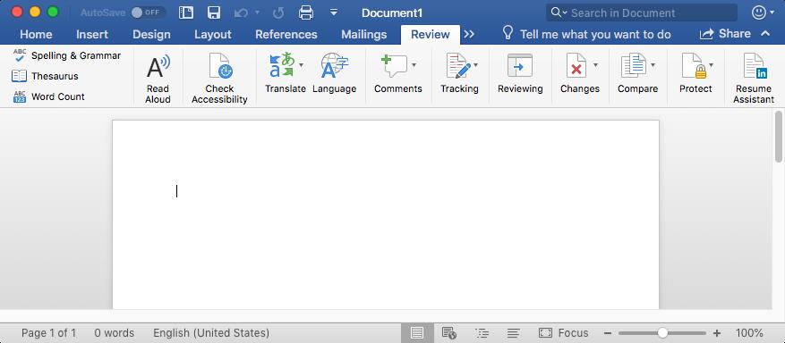 Impostare Una Preferenza Dellassistente Resume In Word Per Mac