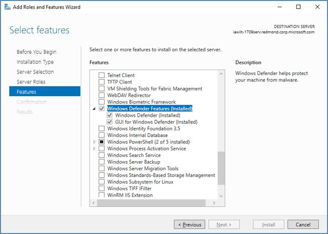 windows defender antivirus in windows server 2016   microsoft docs