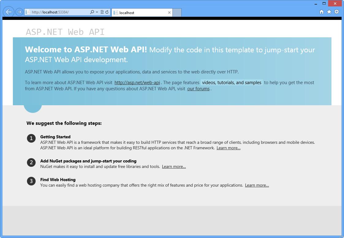 ASP.NET Web API を使用した RES...