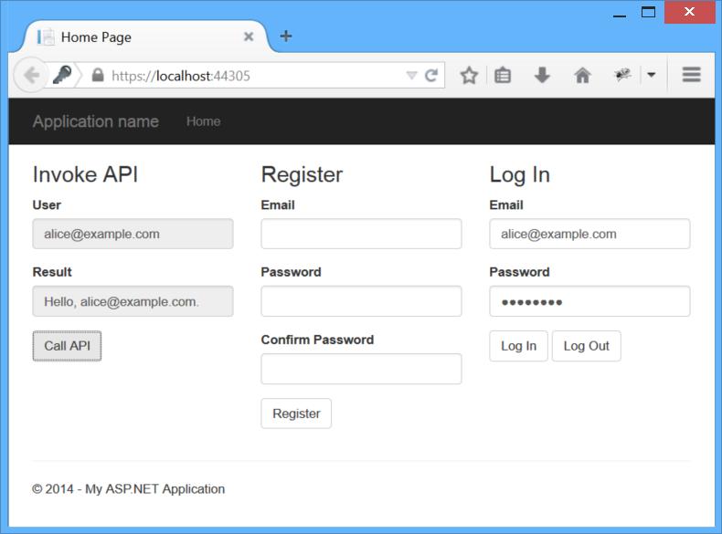 個々 のアカウントと ASP.NET We...